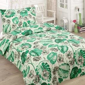 HOD Bavlnené obliečky SOFI zelené 140x200cm