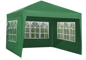 Malatec Záhradné párty stan 3 x 3 m + 3 bočné steny, zelený, 5506