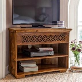 TV stolík rohový Mira 110x70x50 indický masív palisander Only stain