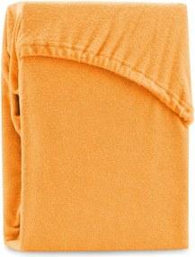 Oranžová elastická plachta na dvojlôžko AmeliaHome Ruby Orange, 180-200 x 200 cm