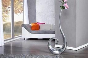 Bighome - Dekoratívna váza WAVE - strieborná