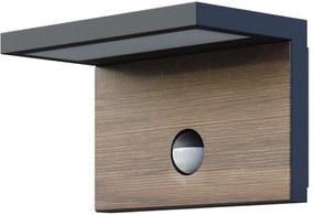 PANLUX NATURA N S LED nástenné záhradné svietidlo so senzorom - neutrálny PN42300006