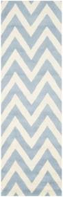 Svetlomodrý vlnený koberec Stella Light Blue, 76 × 243 cm
