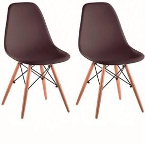 2 kusy, stolička, tmavohnedá/buk, CINKLA 3 NEW