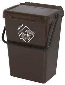 Artplast Plastový odpadkový kôš, hnedý, 35 l