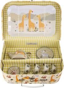 Sass & Belle Detský piknikový set v kufríku - Safari zvieratka