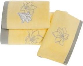 Soft Cotton Malý uterák LILIUM 32 x 50 cm Žltá