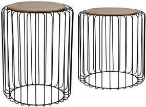 TORO Drevený odkládací stolík TORO set 2ks