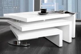Konferenčný stolík HANSEL biely