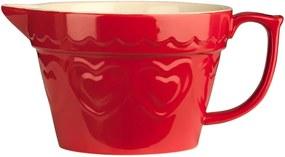 Kameninová misa na cesto v červenej farbe Premier Housewares Sweet Heart, 1,7 l