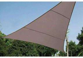 Perel Tieniaca plachta trojuholníková 3,6 m sivohnedá GSS360TA