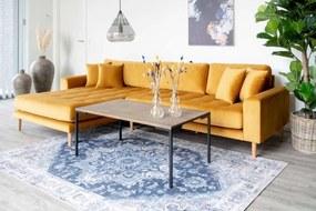 Dizajnový konferenčný stolík Willie 110 cm dymový dub