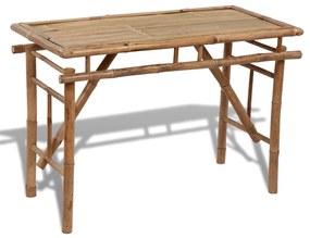 vidaXL Skladací bambusový stôl