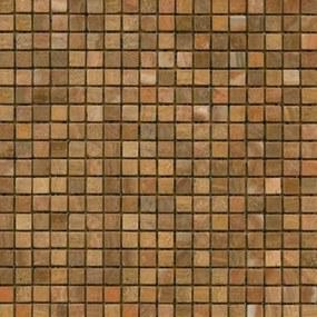 Kamenná mozaika Premium Mosaic Stone oranžová 30x30 cm mat STMOS15ORW
