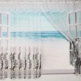 Záclona DAFNE - strieborná 400x150 cm