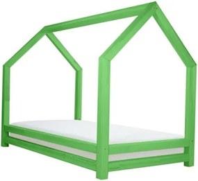 FUNNY detská posteľ, Veľkosť 120 x 200 cm, Farba pastelová zelená