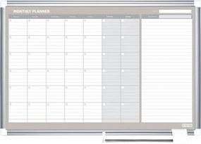 Bi-Office Mesačná plánovacia tabuľa LUX, 900x600 mm