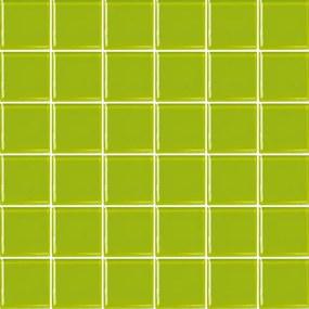 Sklenená mozaika Premium Mosaic zelená 31x31 cm lesk MOS50PI