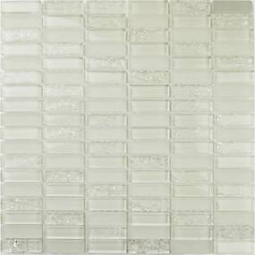 Sklenená mozaika Premium Mosaic bílá 30x30 cm lesk MOS4815CRWH