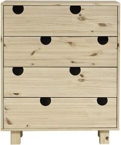 Komoda so štyrmi zásuvkami Karup Design House Natural