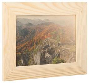 ČistéDrevo Drevený fotorámik na stenu 29 x 23 cm