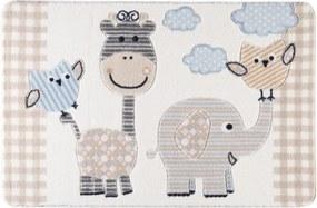 Detský béžový koberec Confetti Animal Kingdom, 133 × 190 cm