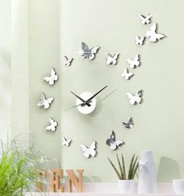 Nástenné hodiny Motýle