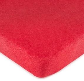 4Home froté prestieradlo červená, 160 x 200 cm