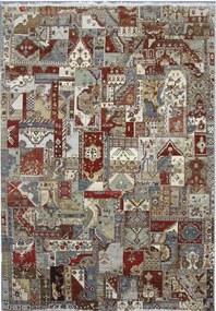 Diamond Carpets koberce Ručně vázaný kusový koberec Diamond DC-PATCH RED MULTI - 180x275 cm