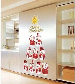Sada 11 vianočných samolepiek Ambiance Snowmen