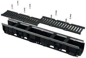ALCAPLAST Vonkajší žľab 100 mm s kovovým rámom a liatinovým roštom AVZ103-R202