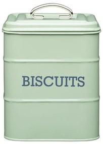 Zelená plechová dóza na sušienky Kitchen Craft Nostalgia