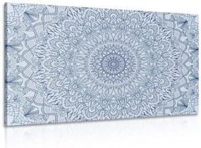 Obraz detailná ozdobná Mandala v modrej farbe