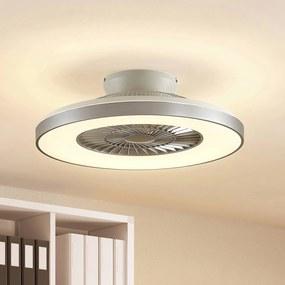 Starluna Orligo stropný LED ventilátor, striebro