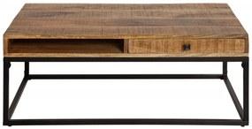 Konferenčný stolík Iron Craft z mangového dreva
