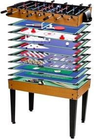 Multifunkční herní stůl Multigame 15 v 1 | světlý