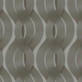 Luxusné vliesové tapety na stenu Colani Legend 59804, rozmer 10,05 m x 0,70 m, preplietané vlny hnedé, Marburg