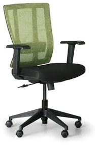 Kancelárska stolička MET, čierna/zelená