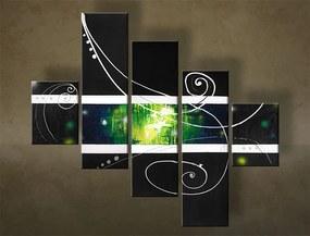 Ručne maľovaný obraz DeLUXE ABSTRAKT – 5 dielny YOB124D5