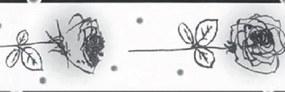 Samolepiaca bordúra 50062, rozmer 5 m x 6,9 cm, ruže čierno-biele, IMPOL TRADE