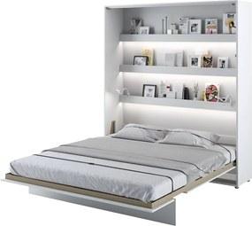 Sklápacie posteľ Cione 160x200cm, biela