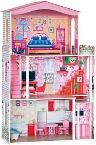 Woody Drevený domček pre bábiky - 7 ks nábytku
