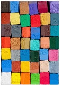 Vinylový koberec Colorful, 52 × 75 cm