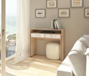 MEBLOCROSS Zoom pc stolík sonoma svetlá / biela