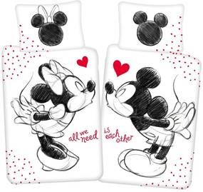 JERRY FABRICS Obliečky Mickey a Minnie All We Need Bavlna, 140/200, 70/90 cm