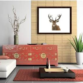 MISDA Obraz v ráme jeleň