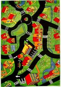 Detský kusový koberec Cesty zelený, Velikosti 300x400cm