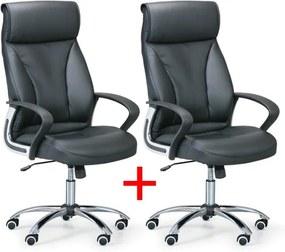 Kancelárske kreslo DERRY 1+1 Zadarmo, čierna