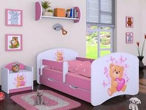 MAXMAX Detská posteľ so zásuvkou 180x90cm MÍŠA - ružová