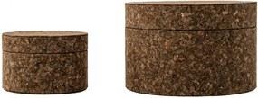 Bloomingville Okrúhla krabička Dark Cork Väčšia